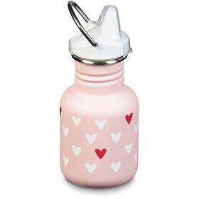 Klean Kanteen Classic Bottle 355ml with New Sippy Cap Kids millenial hearts (matt)